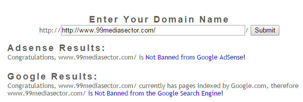 google banned check