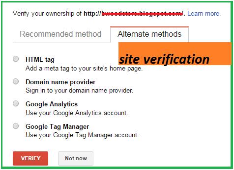 site verifaction