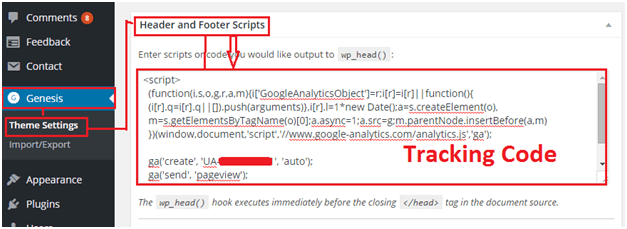 add google analytics in gensis framework