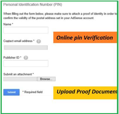 verify Google Adsense Account