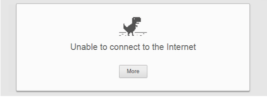 unable to connect the internet