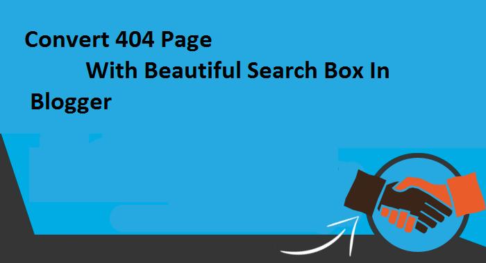 404 error in blogger,not found