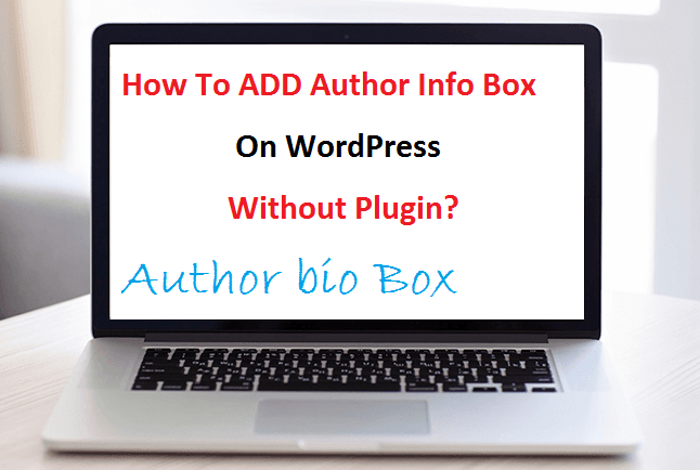 add author bio box,how to add author picture,