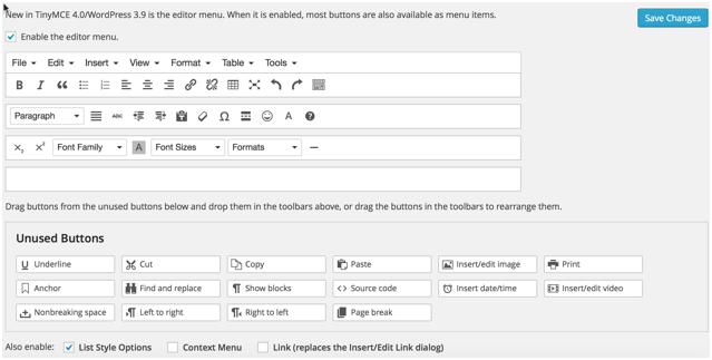 add table in wordpress post