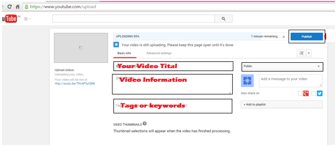 how to upload video on youtube