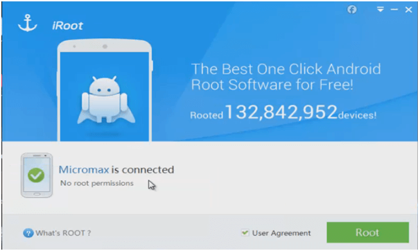 connect phone to iroot