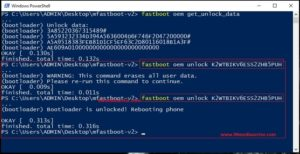 fastboot oem unlock code