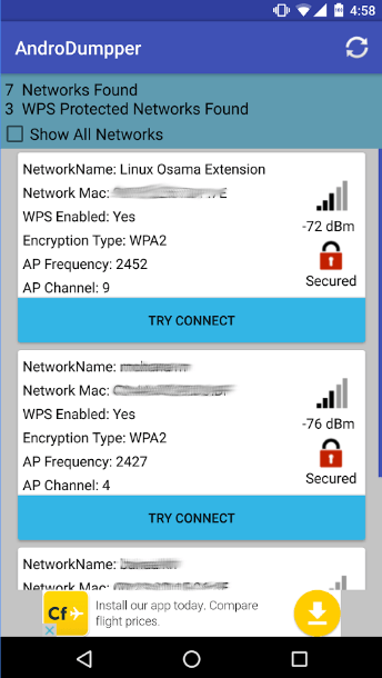 hack wifi password using androdumper