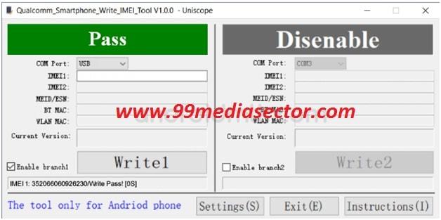 Flash IMEI On Qualcomm Smartphone Using Qualcomm IMEI Write Tool