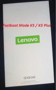 lenovo k5 fastboot mode