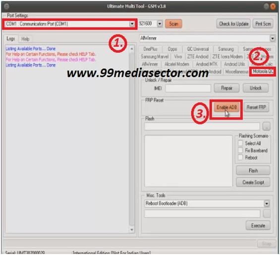 Enable USB Debugging in Locked Motorola devices