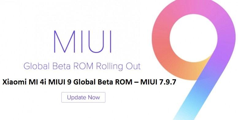 Download Xiaomi MI 4i MIUI 9 Global Beta ROM