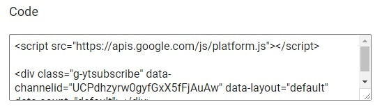 youtube subscribe button code