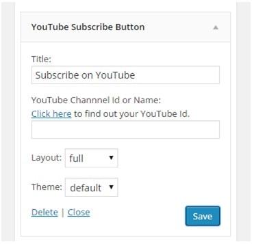 youtube subscribe button plugin