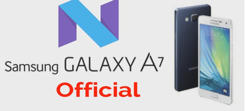 Samsung Galaxy A7 2016 SM-J710M On Nougat