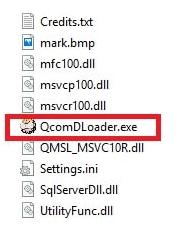QcomDloader flash tool setup