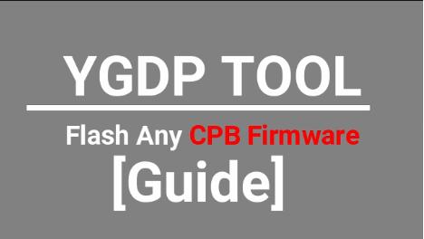 Flash Firmware Using YGDP Tool
