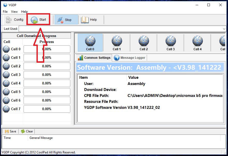 flash stock rom using YGDP flash tool