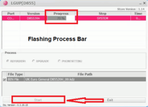LGUP firmware flashing