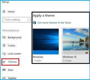 apply theme on windows 10
