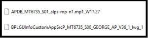 mtk database files