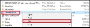 edit checksum file