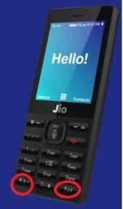 jio f120b boot key