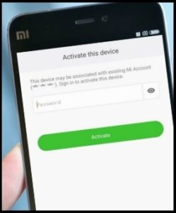 This Device Is Associated With An Existing Mi Account