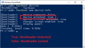 bootloader check command