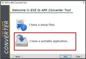 i have portable application