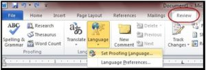 review word 2010