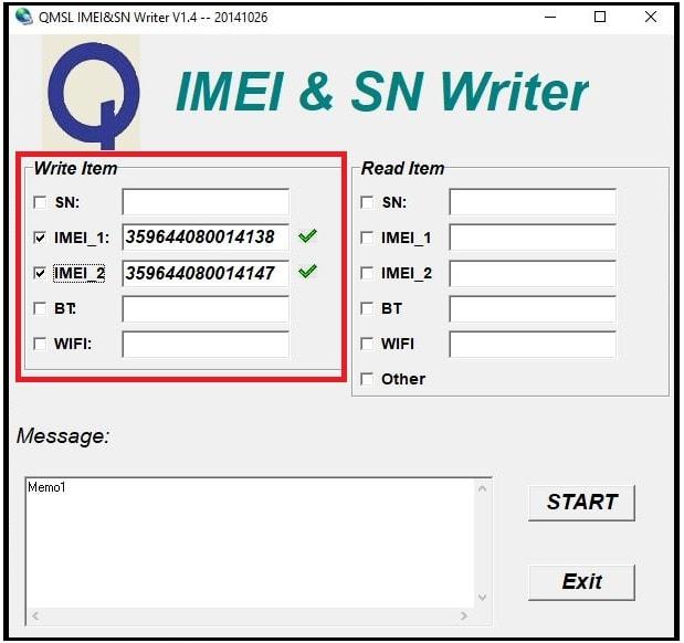 imei repair using QMSL IMEI tool