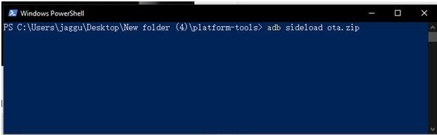 ota update flashing command