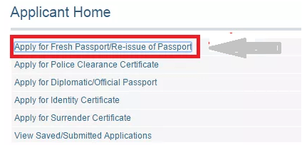 apply for fresh passport