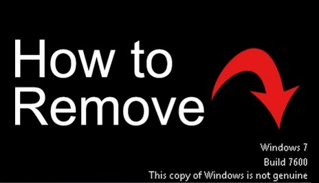 windows is not genuine removal tool