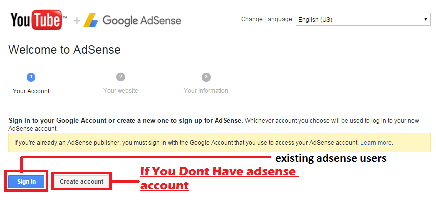 link adsense account with youtube-min