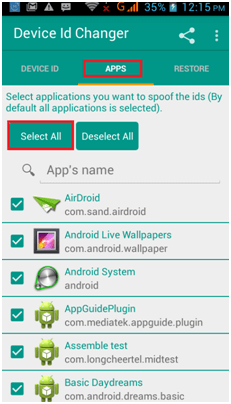 change android device id