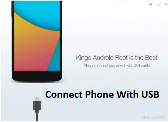 connect phone with kingoroot