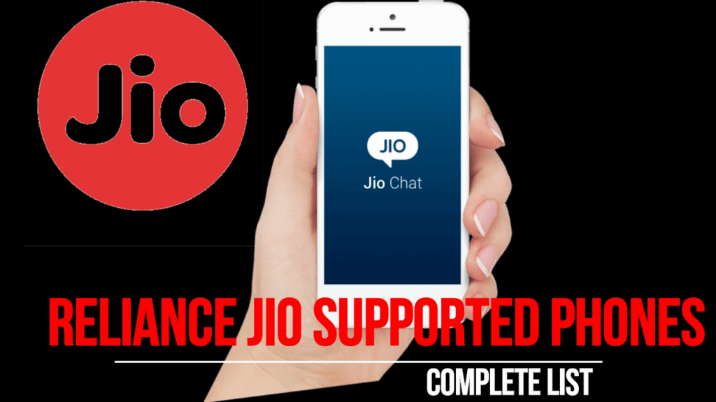 Reliance jio 4G supported phones list