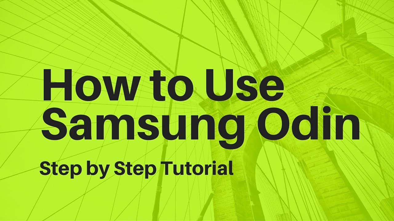 how to use odin flashing tool
