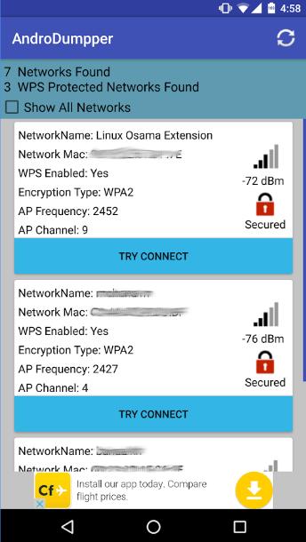 hack wifi password using androdumper