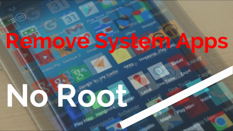 uninstall system apps without root