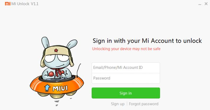 xiaomi bootloader unlocking method