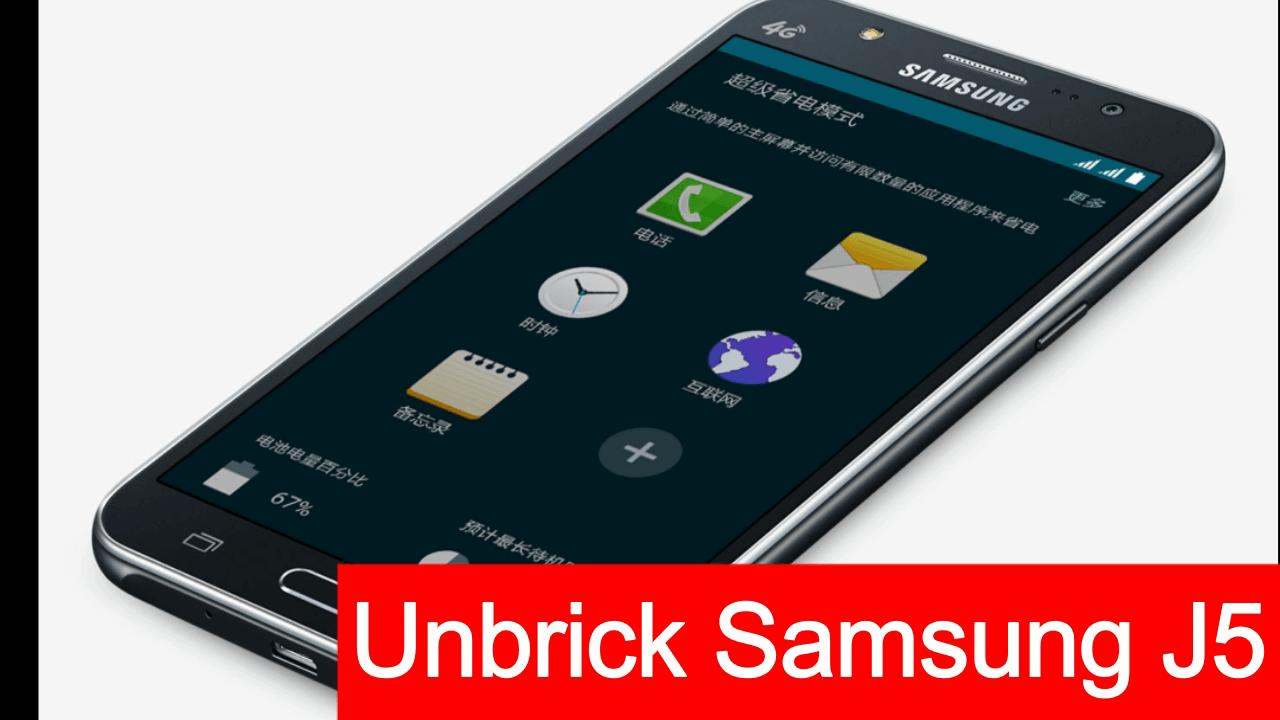 How To Unbrick Samsung Galaxy J5 SM-J500F –Fix Bootloop