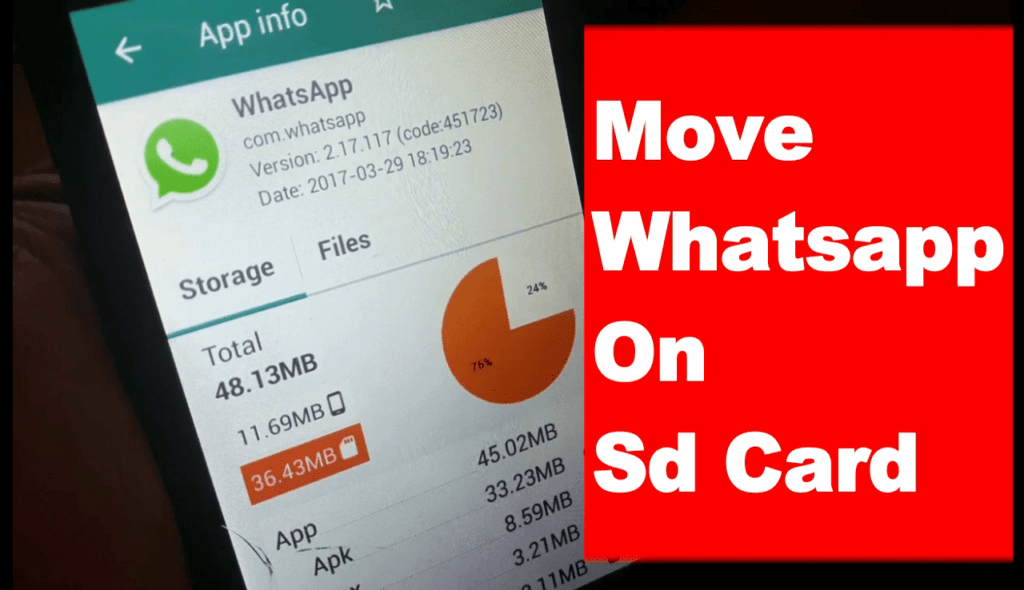 Move Whatsapp To Sd Card