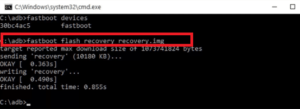 fastboot flash recovery recovery.img