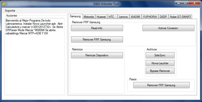 download D&G unlocker tool