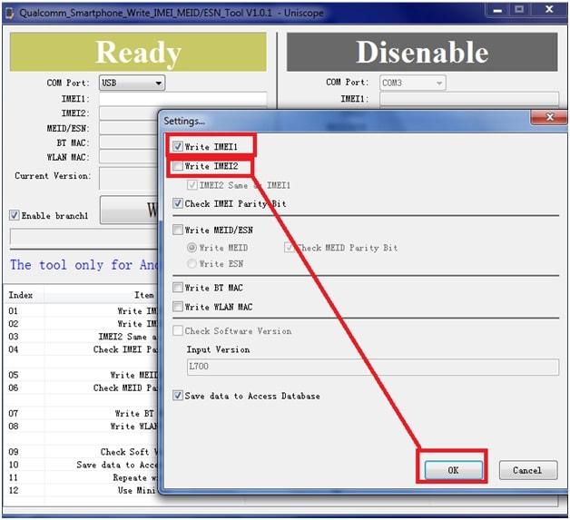 change imei using Qualcomm IMEI Write Tool