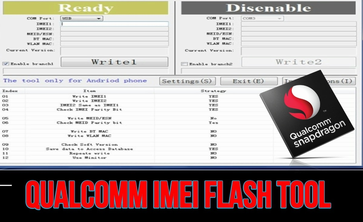 Flash IMEI On Qualcomm Smartphone