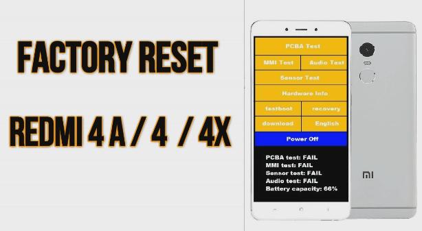 Factory Reset Redmi 4A